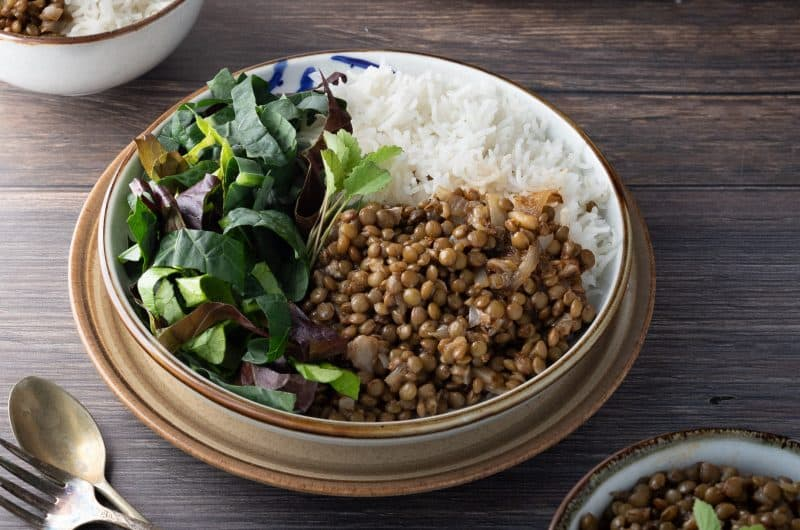 Fast and Simple Lentils and Rice