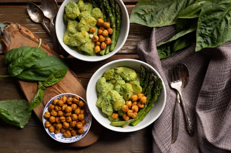 Chickpea Pepita-Pesto Gnocchi, a oil, nut, and dairy free pesto sauce!