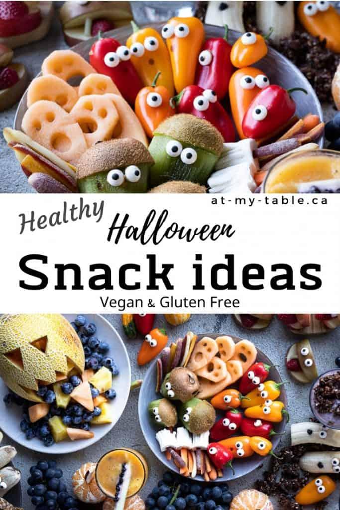 healthy easy Halloween snack ideas gluten free and vegan