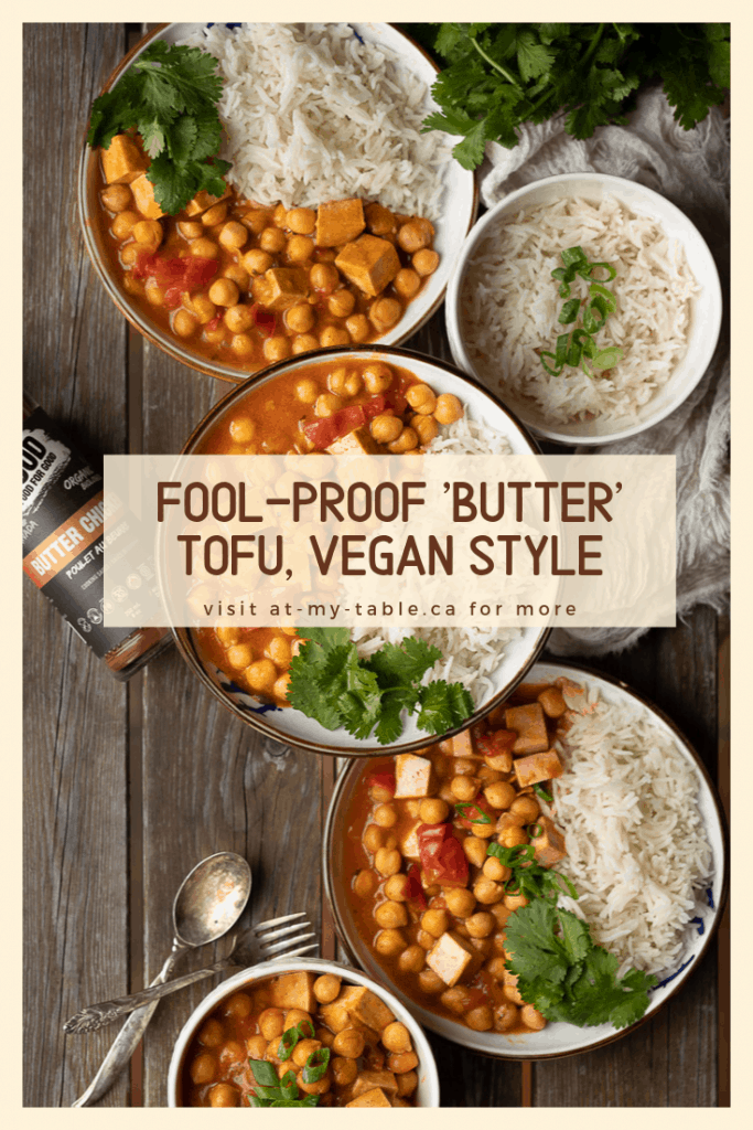 bowls of vegan butter tofu