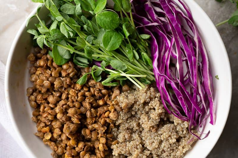 Spiced lentil Buddha Bowl, why you should eat more lentils!