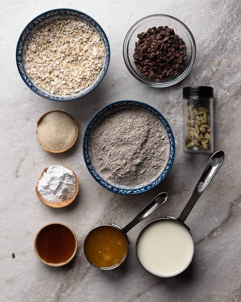 Prep shot for gluten free 1 bowl cardamom cookies