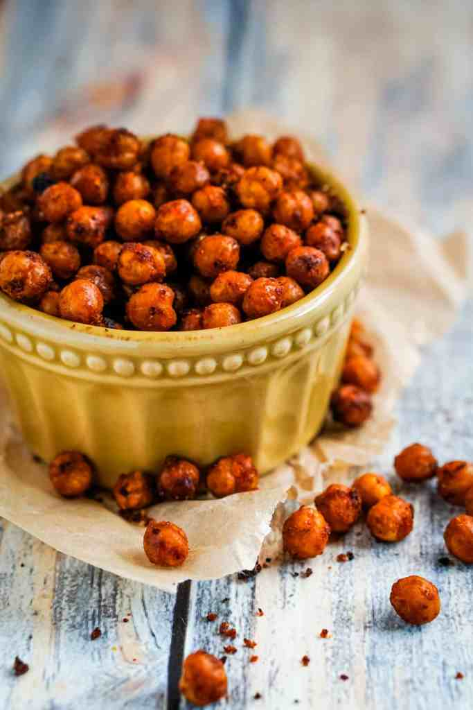 Spiced buffalo chickpeas made with less then 10 ingredients