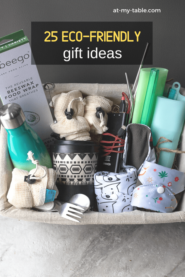 Basket of unique eco-friendly gifts