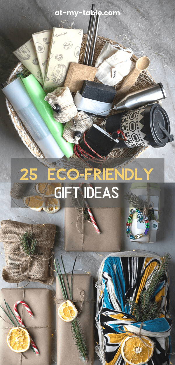 Basket of unique eco-friendly Christmas gift ideas